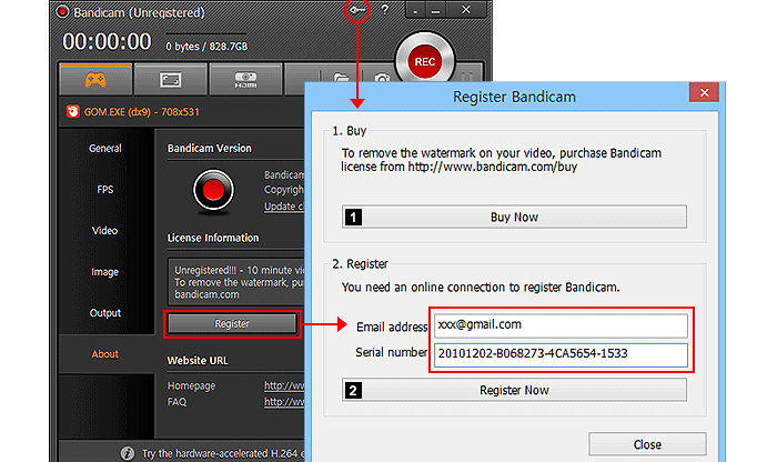Bandicam Serial Number