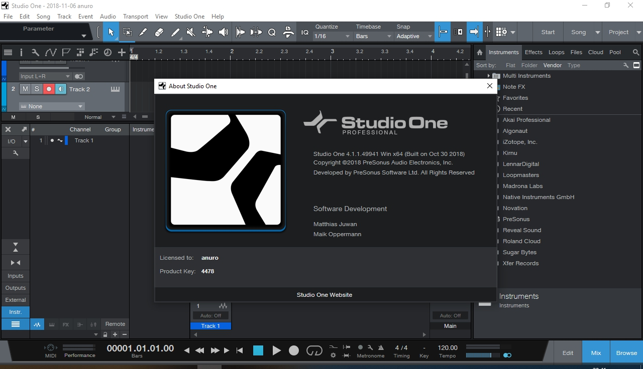 PreSonus Studio One 4 Crack
