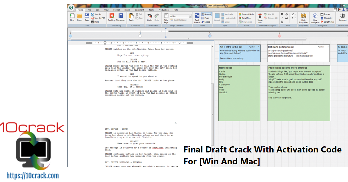 Final Draft Crack With Activation Code For [Win And Mac]