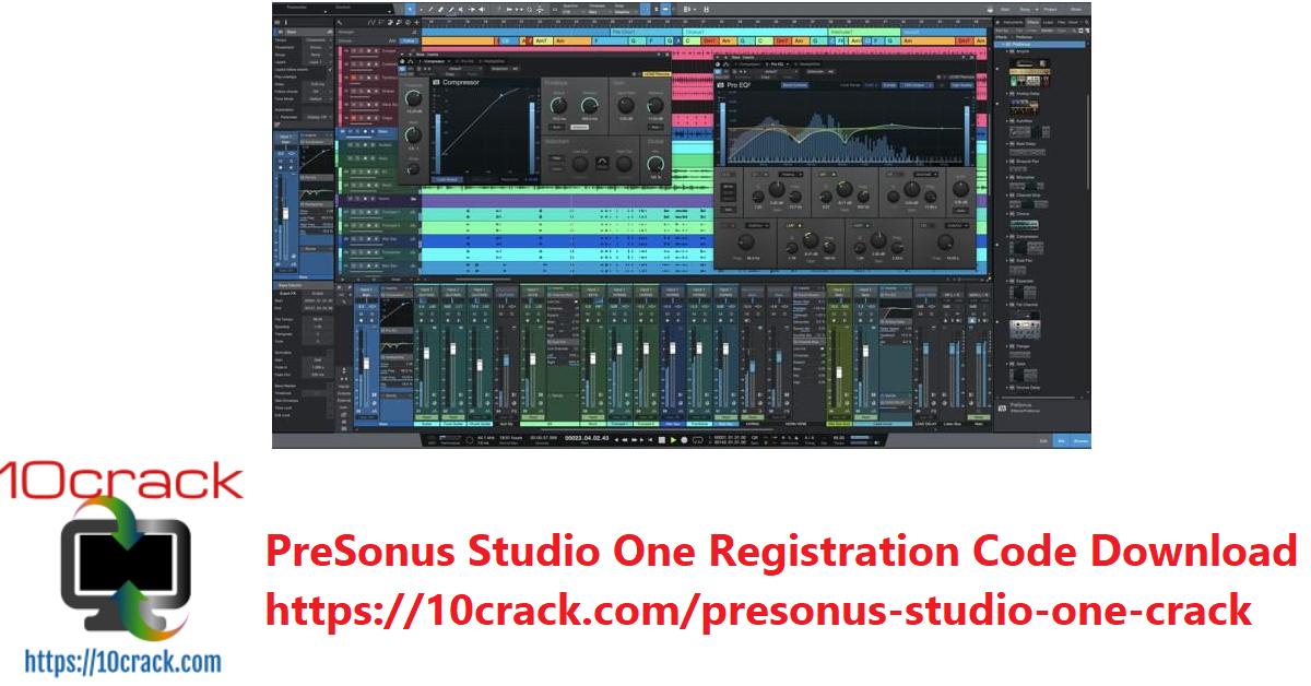 PreSonus Studio One RegistrationCode Download
