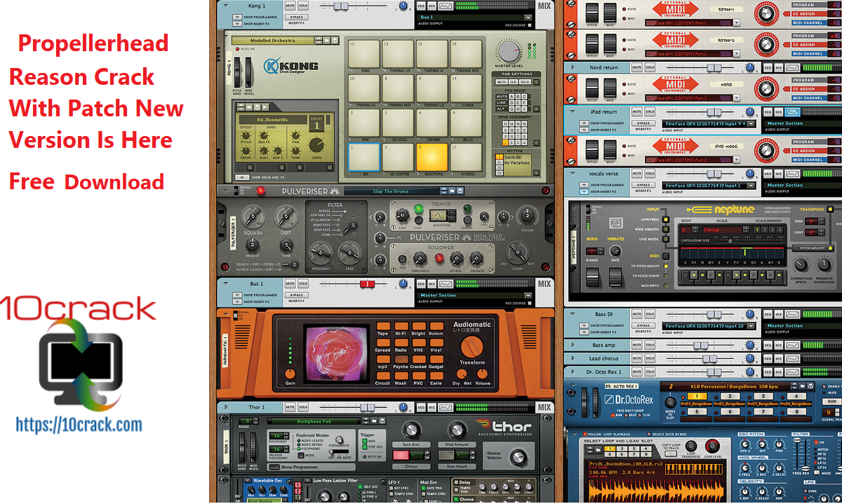 Propellerhead Reason Crack With Patch New Version Is Here Free Download
